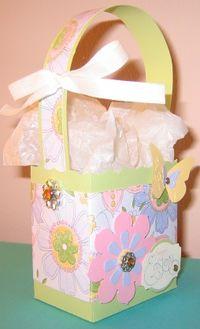 Fancy Easter Basket - butterflies 2)