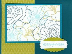 Fifth Ave Floral - Olive Navy (2)