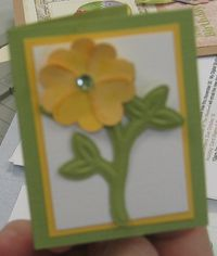 Kathy - Punched Flower Card