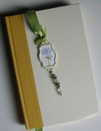 Bella's bookmark on book