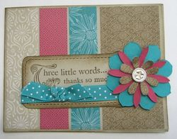 Carmen - thoroughly modern 3 little words card