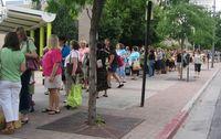 Opening Day line - sidewalk