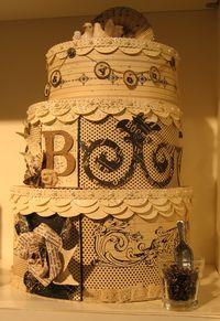 Newsprint cake