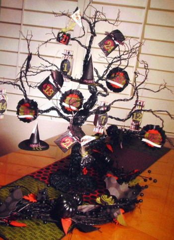 Halloween - advent tree