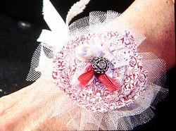 Shelli's fabric flower cuff