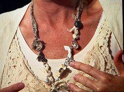 Shelli fabric knot & bangle necklace