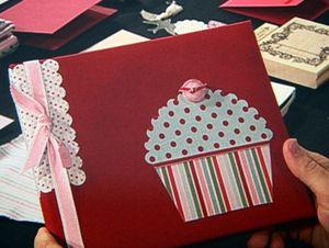Sara - album cupcake embellishment