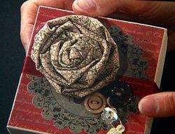 Shelli - fabric flower box top