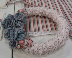 Fabric - candy cane wreath