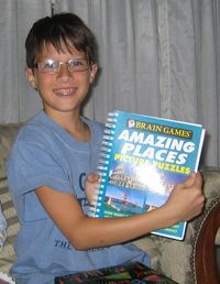 Marcus with book