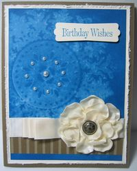 Medallion - with satin flower pearls