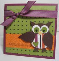 Halloween owl mini card