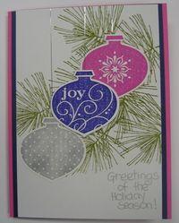 STamp Club sept 2010 - peggy trio ornament card