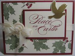 Peaceful season - button bow