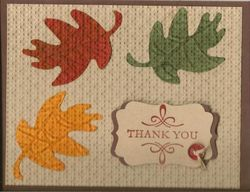 Layered embossing leaves - michelle hoover