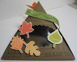 Triangle box falling leaves - 1