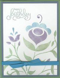Folk Flowers Stencil Card (2)