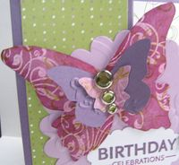 Butterfly Emboss Resist up close