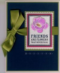 Friends never fade - watercolor spash white emboss