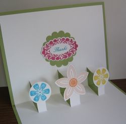 Punched Posies Popup simple inside