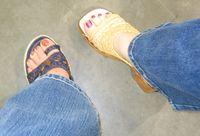 Flower power - platform sandals