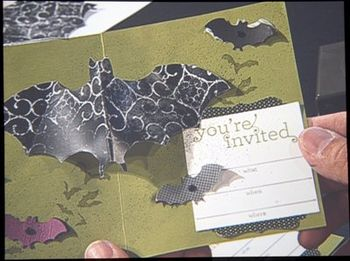 Halloween - bat pop up card