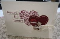Fabric - heart to heart card