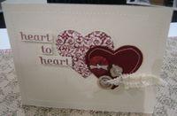 Fabric - heart to heart card