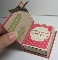 Match box book - open