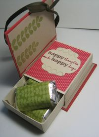 Match box book - with candy