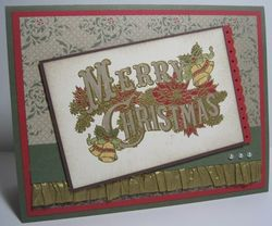 Christmas Postcard - gold waffle slant