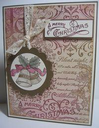 Christmas Collage - burgundy