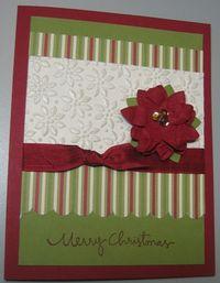 Poinsettia card case - carmen