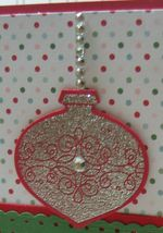Michelle - glitter emboss ornament upclose
