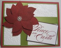 Poinsettia cards smooch log cabin