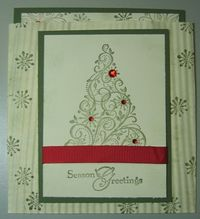 Tammy - snow swirled envelope card