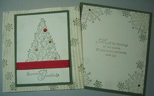 Tammy - snow swirled envelope card side