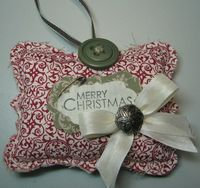 Darla - fabric ornament top note