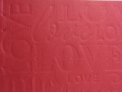 Letterpress textured crease