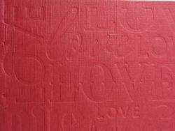 Letterpress textured crease