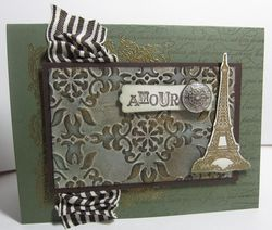 Artistic etchings patina card h