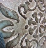 Scrap card - bliss shimmer patina closeup