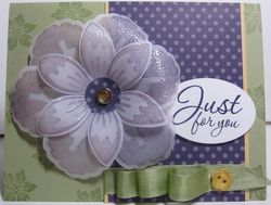 Build A Blossom Vellum purple card