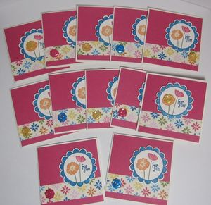 Ice cream parlor cards