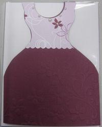 Peggy - plum & razzle dress