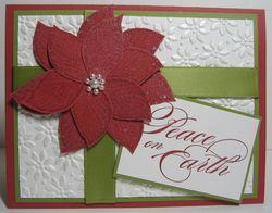 Poinsettia cards shimmer white