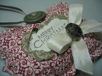 Darla - fabric ornament top note close up