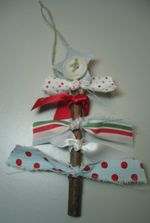 Darla - fabric tree ornament