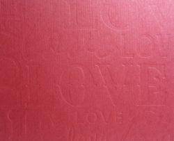 Letterpress textured regular