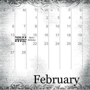 MDS Calendar - month 2